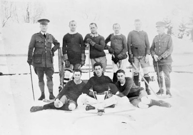 Champion hockey team of Canadians interned in Switzerland, 1917. Library and Archives Canada /Canada. Dept. of National Defence/ PA-005549