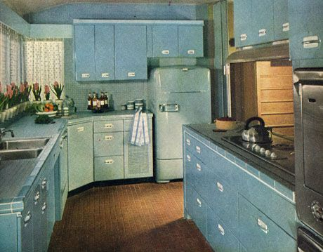 """Open Kitchen"" House Beautiful Archives, May 1951"