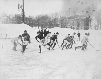 McGill University game, 1901, Montreal. Credit: Notman & Son/ Library and Archives Canada